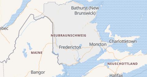 Karte von New Brunswick