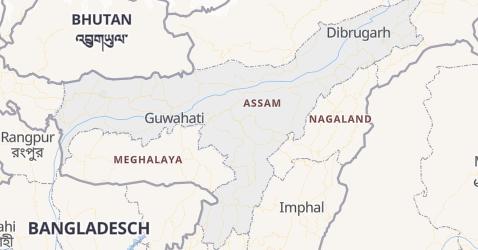 Karte von Assam