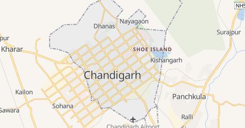 Karte von Chandigarh