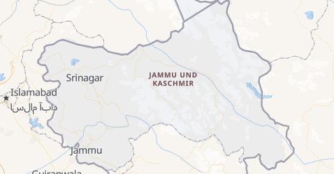 Karte von Jammu und Kashmir