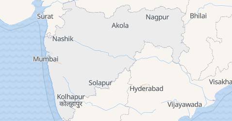 Karte von Maharashtra
