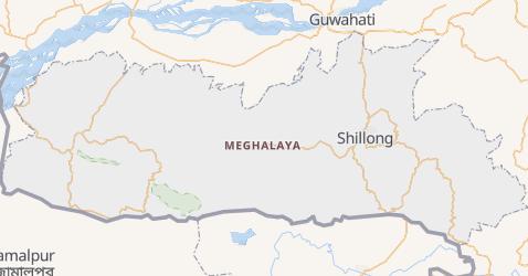 Karte von Meghalaya