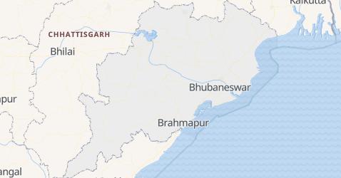 Karte von Odisha