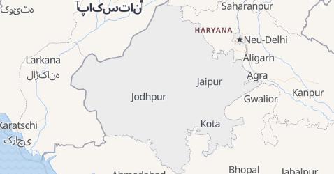 Karte von Rajasthan