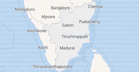 Karte von Tamil Nadu