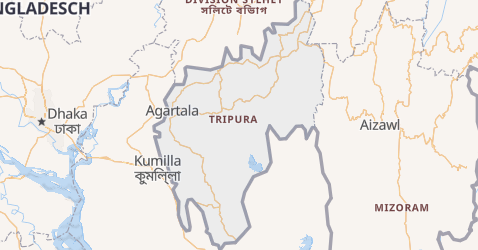 Karte von Tripura