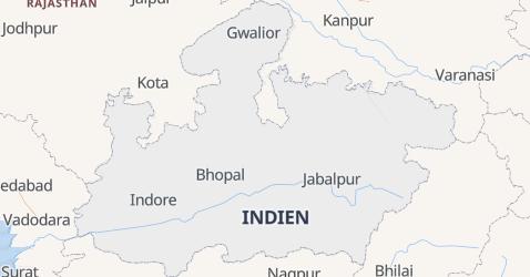 Karte von Madhya Pradesh