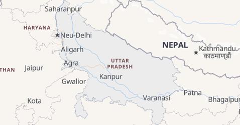 Karte von Uttar Pradesh