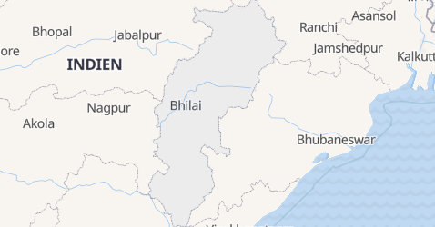 Karte von Chhattisgarh