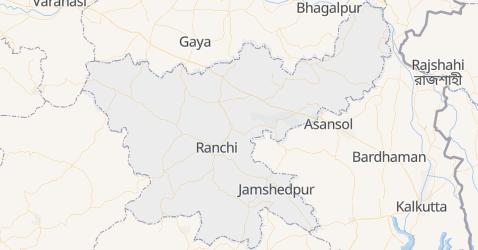 Karte von Jharkhand