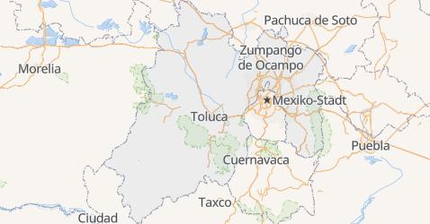 Karte von México