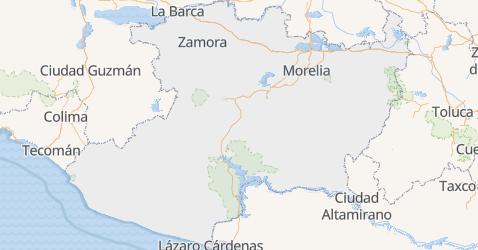 Karte von Michoacán