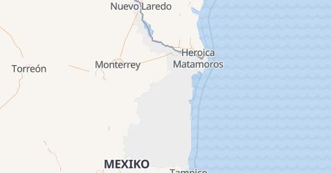 Karte von Tamaulipas