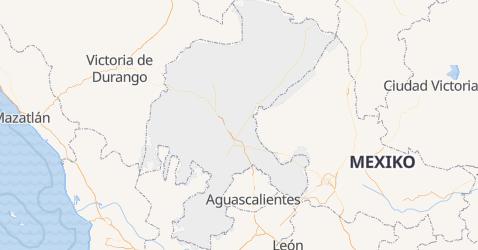 Karte von Zacatecas
