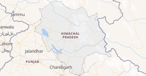 Himachal Pradesh map