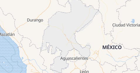 Zacatecas map