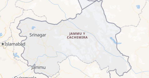 Mapa de Jammu y Cachemira