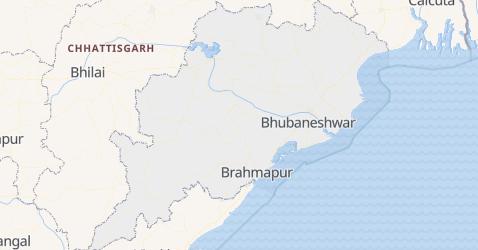 Mapa de Odisha