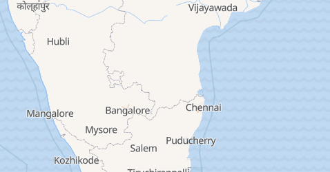 Mapa de Puducherry