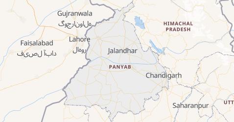 Mapa de Punyab
