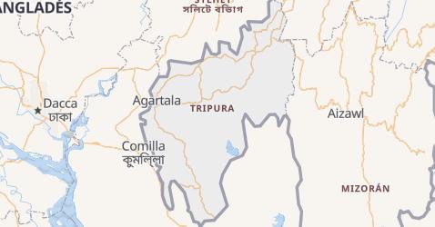Mapa de Tripura