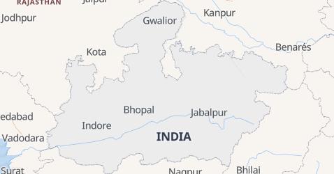 Mapa de Madhya Pradesh