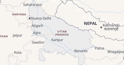 Mapa de Uttar Pradesh