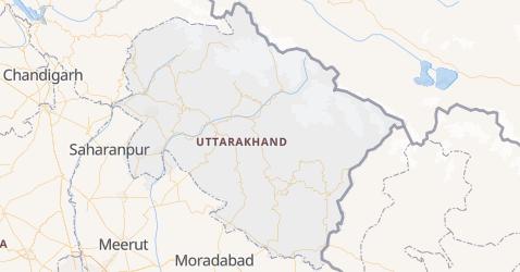 Mapa de Uttarakhand