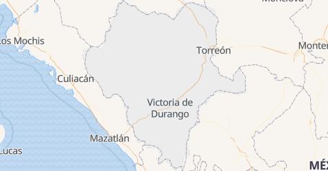 Mapa de Durango
