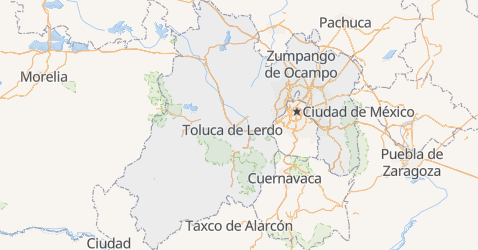 Mapa de Estado de Mexico