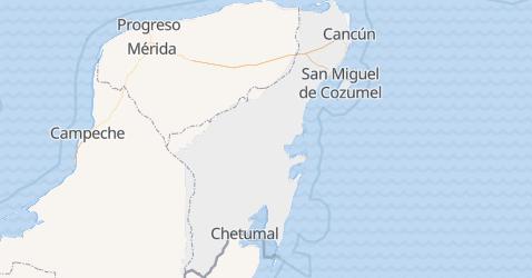 Mapa de Quintana Roo