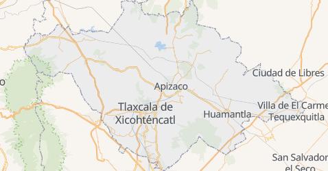 Mapa de Tlaxcala