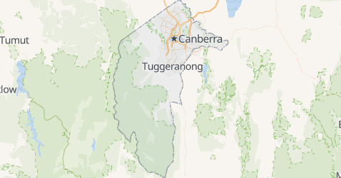 Carte de Territoire de la capitale australienne