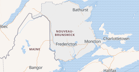 Carte de Nouveau-Brunswick