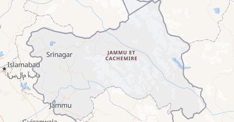 Carte de Jammu-et-Cachemire