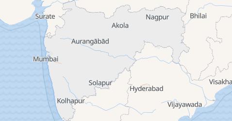 Carte de Maharashtra