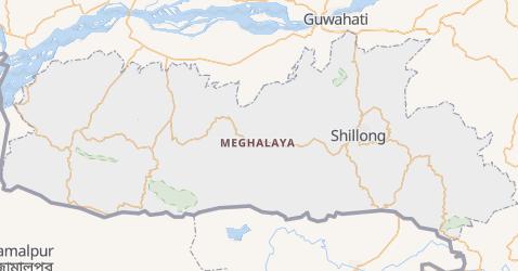 Carte de Meghalaya