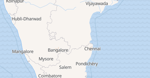 Carte de L'État de Pondichéry