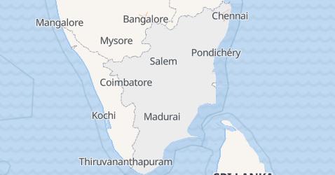 Carte de Tamil Nadu