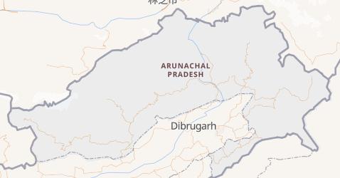 Carte de Arunachal Pradesh