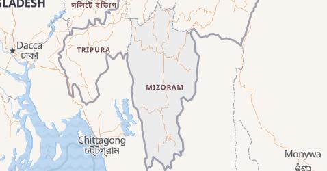 Carte de Mizoram