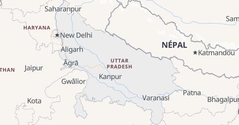 Carte de Uttar Pradesh