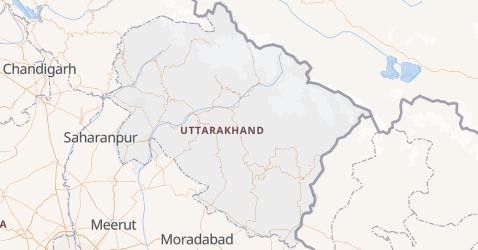 Carte de Uttarakhand