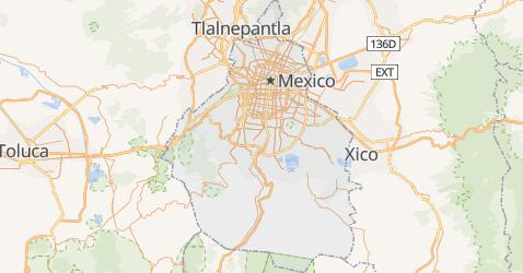 Carte de Mexico