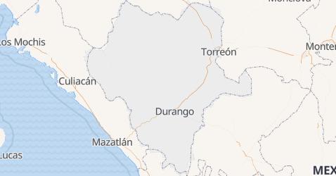 Carte de État de Durango