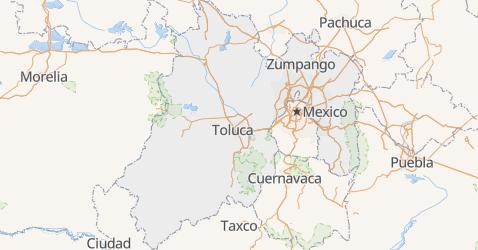 Carte de État de Mexico