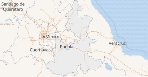 Carte de État de Puebla
