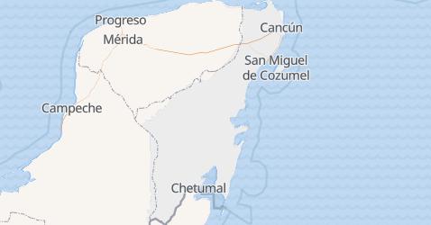 Carte de Quintana Roo