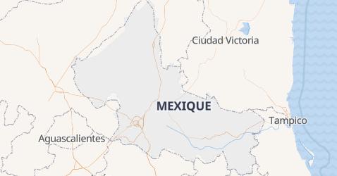 Carte de San Luis Potosí