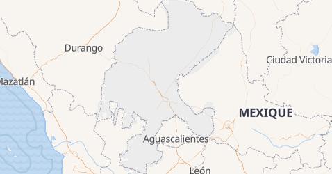 Carte de État de Zacatecas